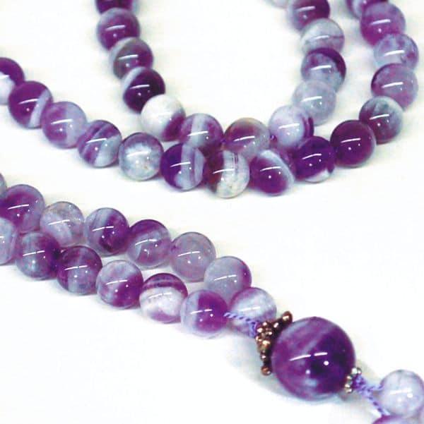 Chevron Amethyst Bahai Prayer Beads