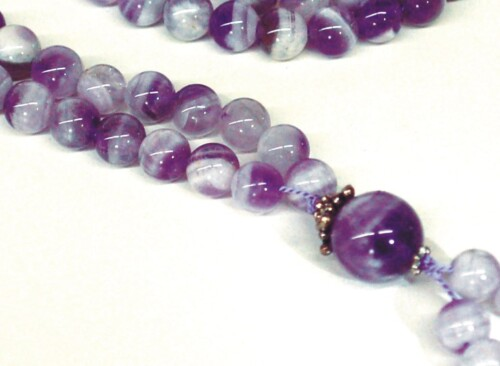 Chevron Amethyst Bahai Prayer Beads