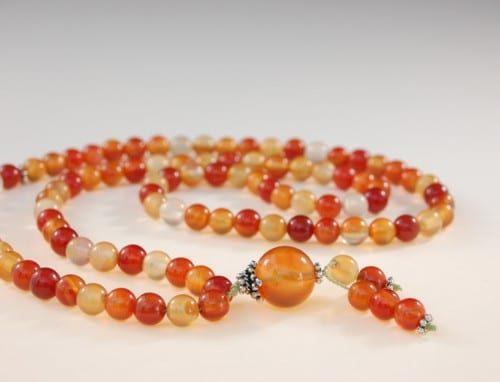 Red Agate Bahai Prayer Beads