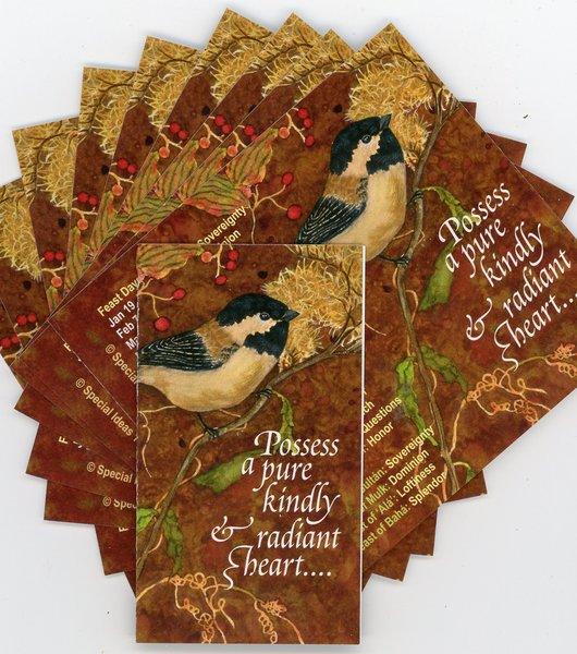 2019 Bahai Pocket Calendar