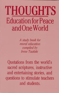 Thoughts: Education for Peace and One World
