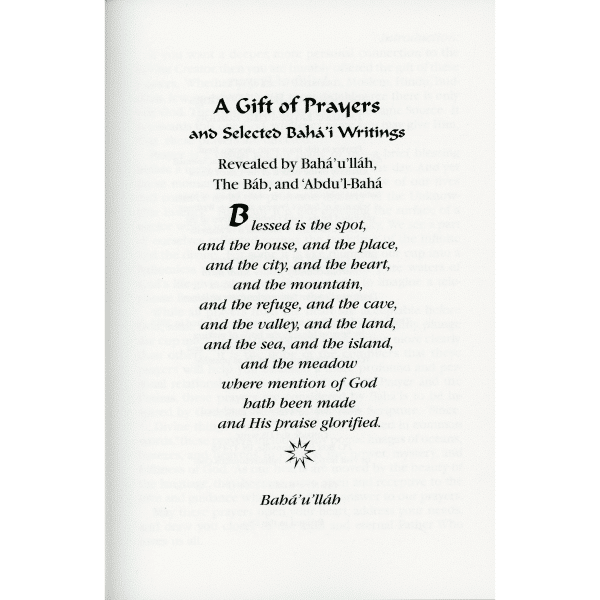 Gift of Prayers & Selected Writings-Deluxe Large Print