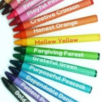 Color with Character Virtue Crayon Set