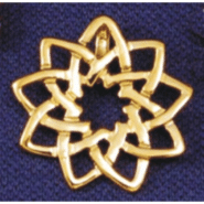 Floating Floral 9-Pointed Star in Gold Plated Sterling Silver