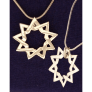 Floating Medium 9-pointed Star in Gold-Plated Sterling