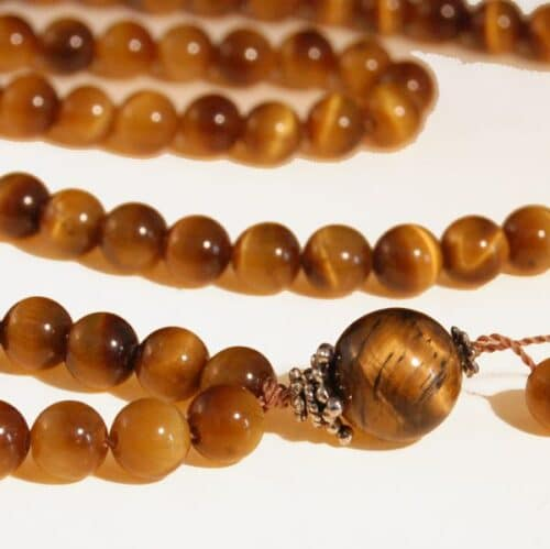 Tiger's Eye Bahai Prayer Beads