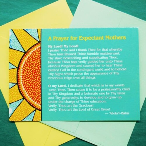 Prayer for Expectant Mothers Greeting Card