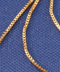Vermeil Box Chain – 20 inch .9mm