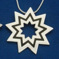 Large Silver Floating Star Pendant