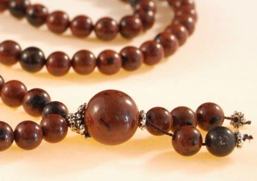Mahogany Obsidian Bahai Prayer Beads