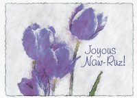 Purple Tulip Naw-Ruz Card