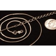 Rhodium Plated 20″ Snake Chain
