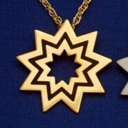Large Gold Floating Star Pendant