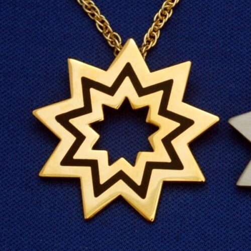 Large Gold Floating Star Pendant
