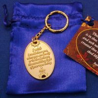 You Are Loved Gold Keychain