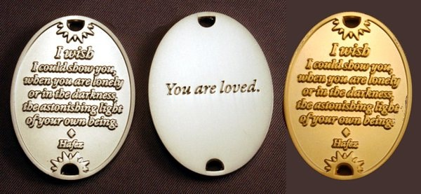 You are loved coins with Hafez quote