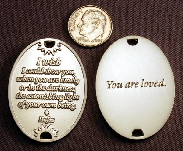 You Are Loved Silver Keychain