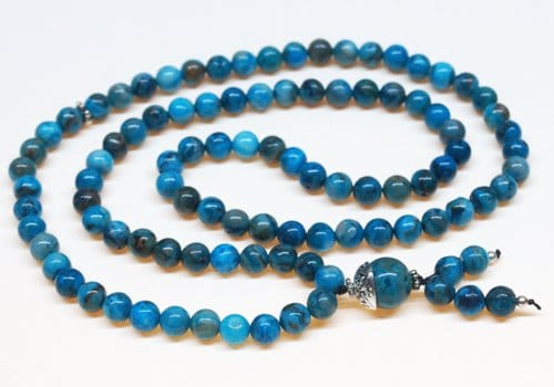 Crazy Lace Agate Bahai Prayer Beads