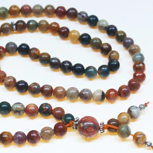 Red Creek Jasper Bahai Prayer Beads