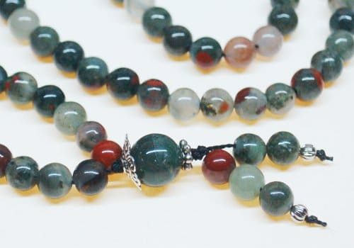 African Bloodstone Bahai Prayer Beads
