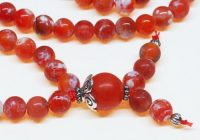 Fire Crackle Agate Bahai Prayer Beads