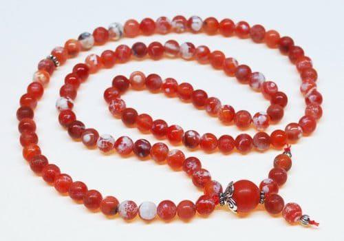 Fire Crackle Agate Bahai Prayer Beads