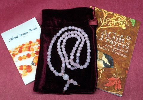 Goldstone Bahai Prayer Beads