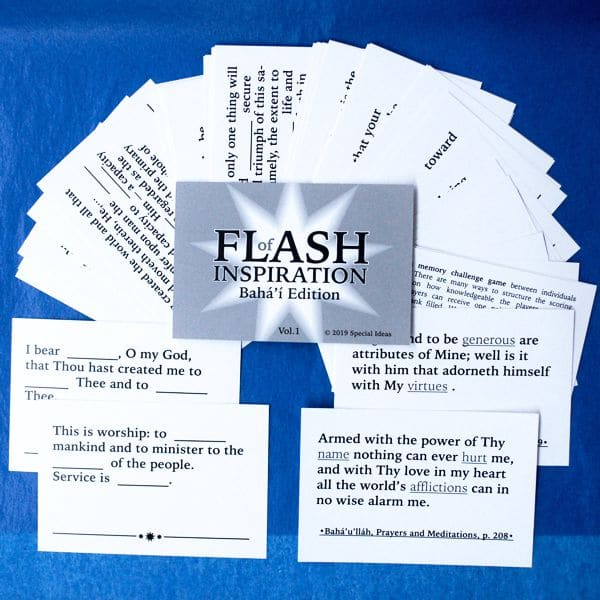 Flash of Inspiration Baha'i Flash Card Game