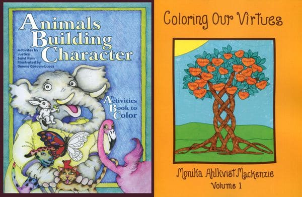 Animals Building Character Coloring & Activities Book