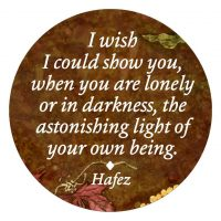 "Hafez ""Astonishing Light of Your Being"" button"