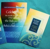 Baha'i Bicentenary Folder & Booklet
