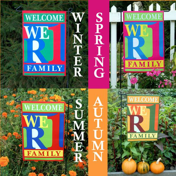 WeR1 Family 4-Seasons Welcome Garden/Door Flag