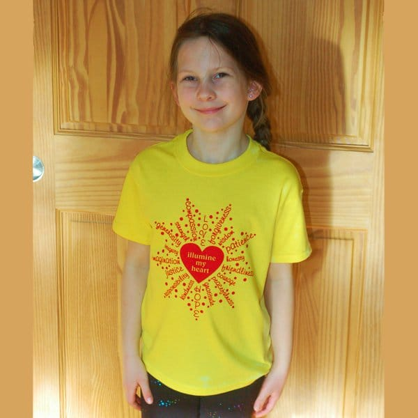 Illumine My Heart T-shirt for kids