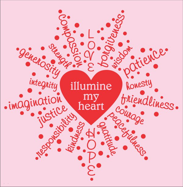 Illumine My Heart T-shirt for kids