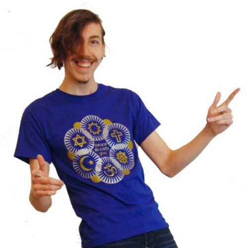 Interfaith Peace Be With You Gold & Silver T-shirt