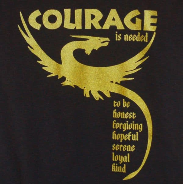 Courage is needed dragon T-shirt