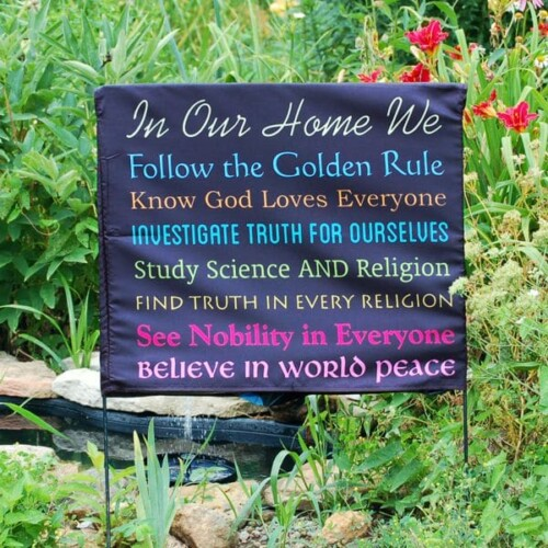 In Our Home – Interfaith Yard Sign Cover