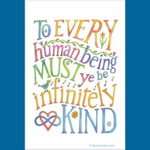 Be Infinitely Kind, Garden or Door Flag