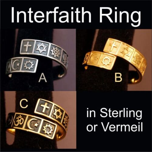 Sterling Interfaith Ring