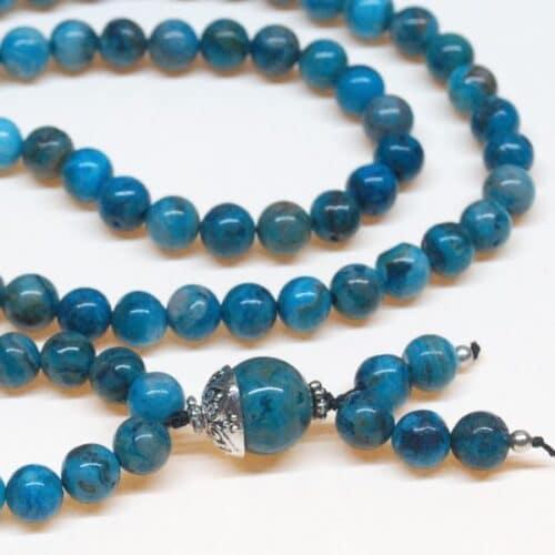 Crazy Lace Agate Bahai Prayer Beads