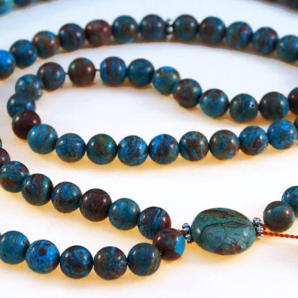 Blue Sky Jasper Bahai Prayer Beads