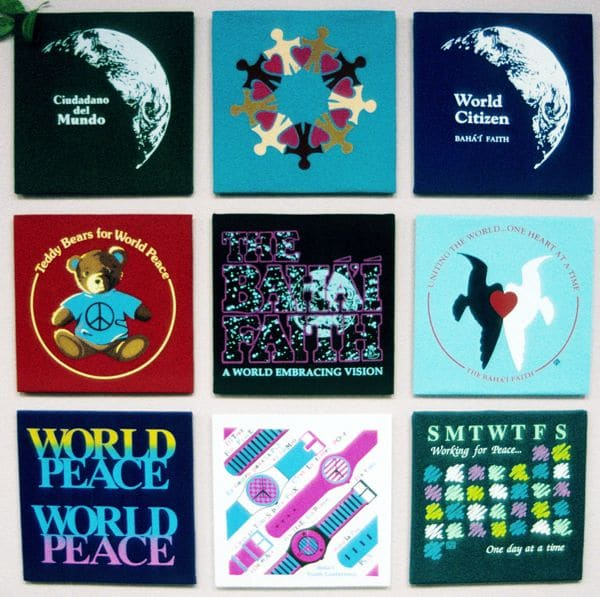 Bahai t-shirts we sold back in the 80's