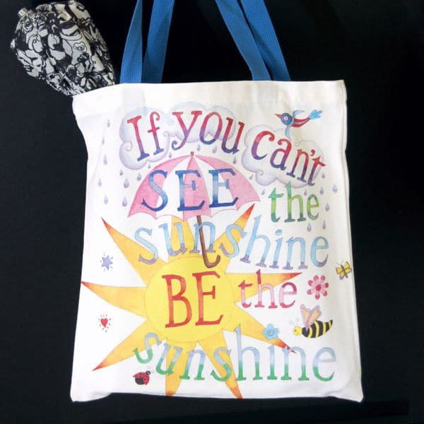 Be Kind, Be the Sunshine Canvas Tote Bag